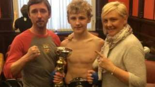 Scott Marsden (centre) has been described as a 'well loved and respected fighter and sportsman'