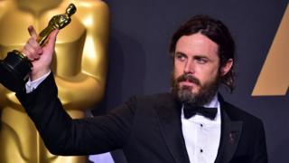 Casey Affleck at the 2017 Oscars