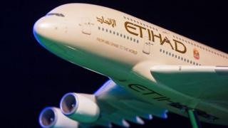 Etihad Airways plane generic - not the same as the plane with the fault