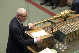 Jeremy Corbyn speaks in the House of Commons