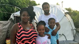 Tenesha Beazer and her family