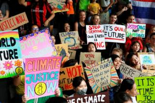 Climate protesters in Bangkok