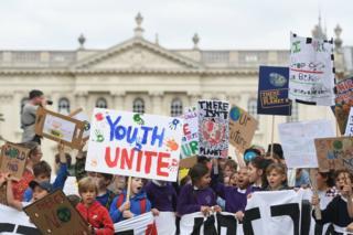 Protesters in Cambridge